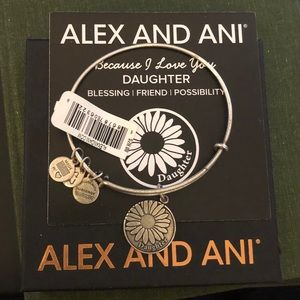 Alex and Ani Because I Love you Daughter Bracelet